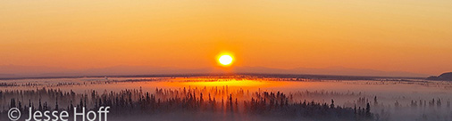 Sunset on the Ice Fog